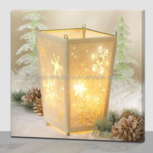 China Fuzhou Supplier Canvas Seaside View Picture With Led Light,Led ...