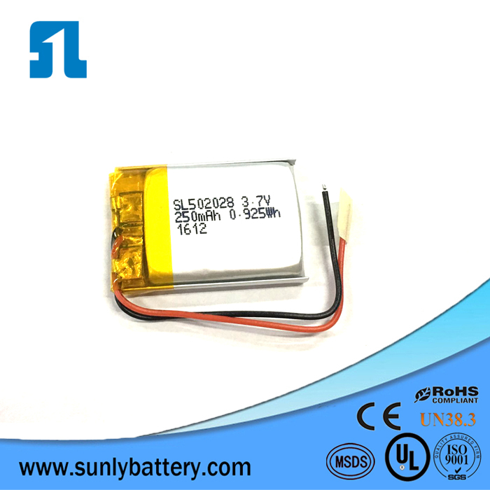 3.7 v 250mah lipo <strong>battery</strong> with high quality from Sunly factory
