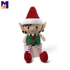 New arrival 2018 kids toy factory custom christmas plush elf toy