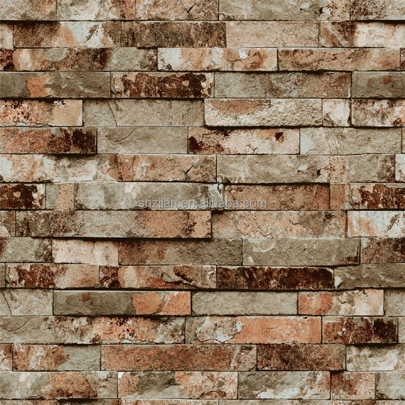 Wallpaper brick design home safe for Brick wallpaper interior design