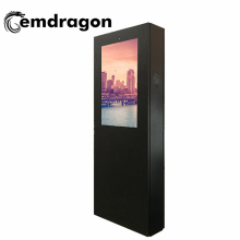 32 Inch Angin Berpendingin Layar Vertikal Landing Iklan Outdoor Wireless Mesin Kartu SD Iklan <span class=keywords><strong>TV</strong></span> LED Digital Signage
