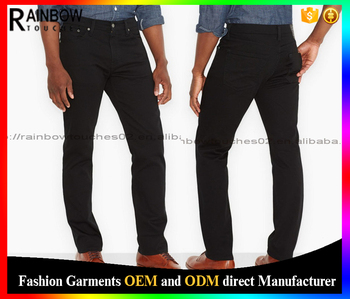 Plain Black Pent Stylish Tops Tight Men Jeans Import Clothing ...