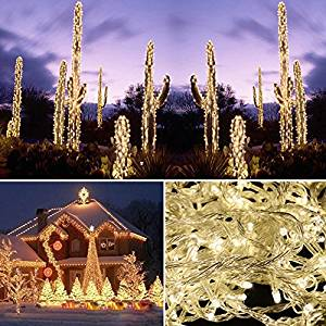 20M 200 LED Warm White Lights Decorative Christmas Party Festival Twinkle String Lamp Bulb With Tail Plug 220V EU