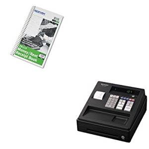 KITRED23L115SHRXEA107 - Value Kit - Rediform Money and Rent Unnumbered Receipt Book (RED23L115) and Sharp XEA107 Cash Register (SHRXEA107)