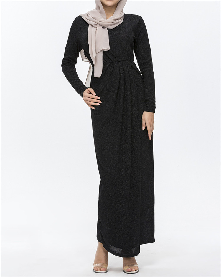 Hot Sale Beautiful shining  Maxi Dress Long Sleeve Wholesale Abaya Islamic Clothing
