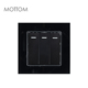 Best Selling Modern Style Crystal Style Black 16A 250V 3 Gang 1 Way Light Switch