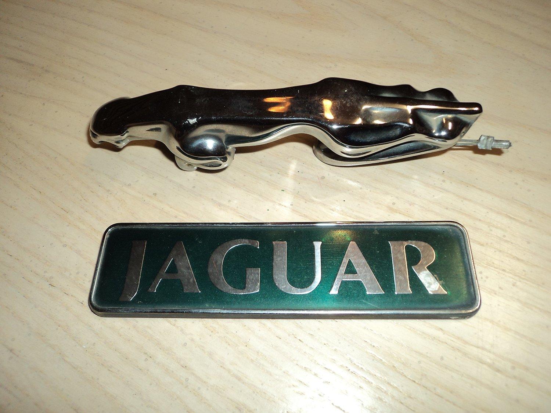 Buy Jaguar Vintage Hood Ornament Used Emblem Nameplate Badge Script