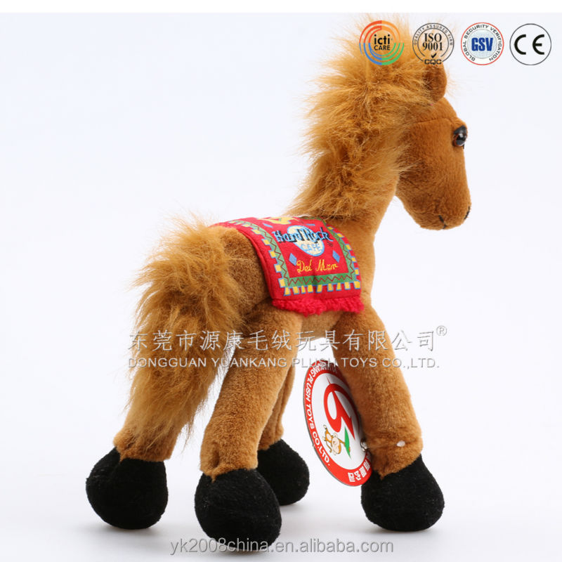 Mechanical stuffed toys standing and singing plush horse