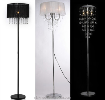 modern crystal droplets floor chandelier lamp ns122012