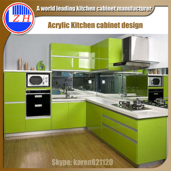 Breathtaking Small Kitchen Cabinet Design With High Gloss Acrylic