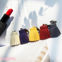 2017 New Arrivals Wholesale 3CM Suede Pom Pom Tassel Gland Borla Keychain Key Ring Bag Charm