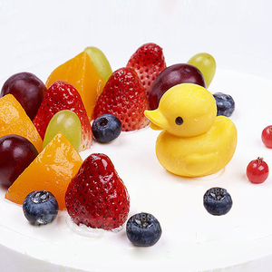 OEM Customized PVC 3D Mini Yellow Rubber Duck for Decoration JG3D0002