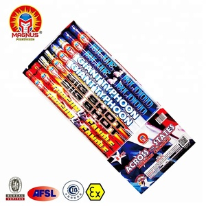 ACROSS ASSORTMENT Magnus 1 inch High quality 5 Balls Magic Shots 1.4G UN0336 Consumer Aerial Pyrotechnics Fireworks Roman Candle