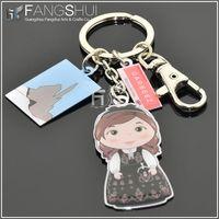 digital photo frame keychain/new promotional pu leather keychain