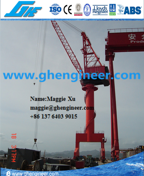25T hydraulic electric cargo shipyard port mobile harbour gantry crane