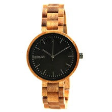 2018 new wrist fashion bamboo wood watch handmade watch OEM custom logo
