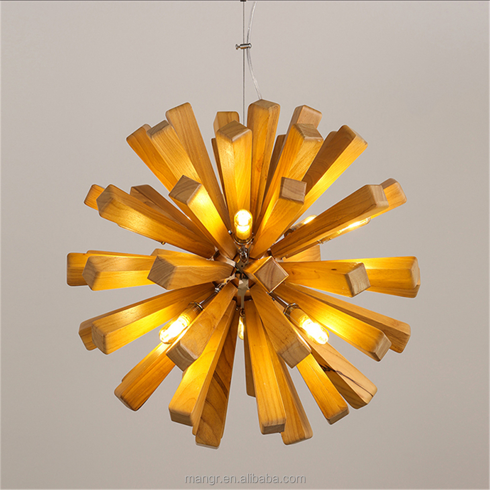 Pendant-Light-MG-1402 Modern Pendant Light Vintage Industrial Lamp Square Round Metal Or Wood Decorative Hanging Pendant Light