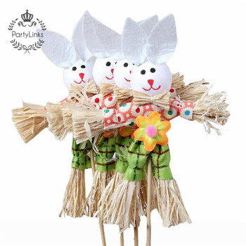 Straw Easter Bunny Creative Handmade Material Funny Material Diy Material For Baby Kid Child
