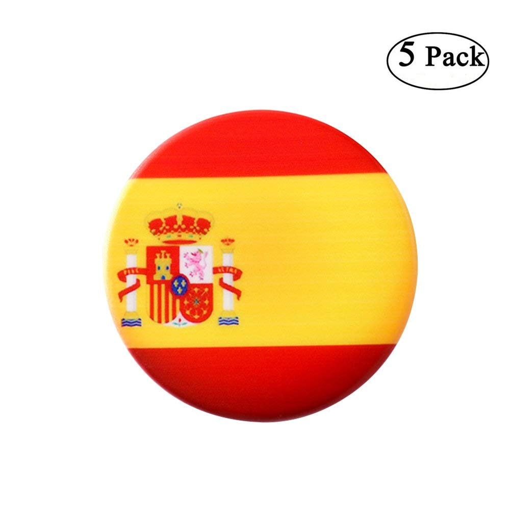3790dfe59 Get Quotations · VORCOOL 5pcs Soccer Ball Football Fans Souvenirs Creative  Drink Cup Coasters Placemat Spain Supporter 2018 World