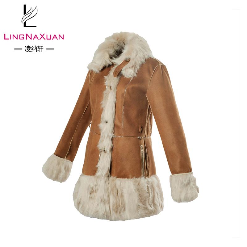 Kragen Winter Russische Pelz für Mantel Wildleder Großhandel OEM frauen wv08mNnO