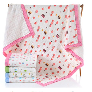 New Design Sailboat Amazon Hot Sales Products Cotton Bamboo Muslin Quilt baby blanket