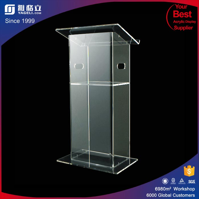 Large Plastic Frosted Acrylic Cheap Church Podium