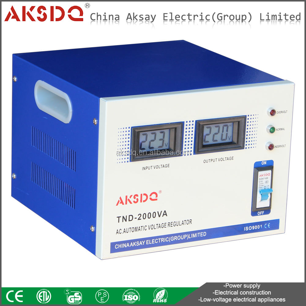 Hot Sales AVR Single-Phase Copper Coil Automatic Lighting 2kw AC Voltage Stabilizer Circuit Zhejiang Yueqing Factory