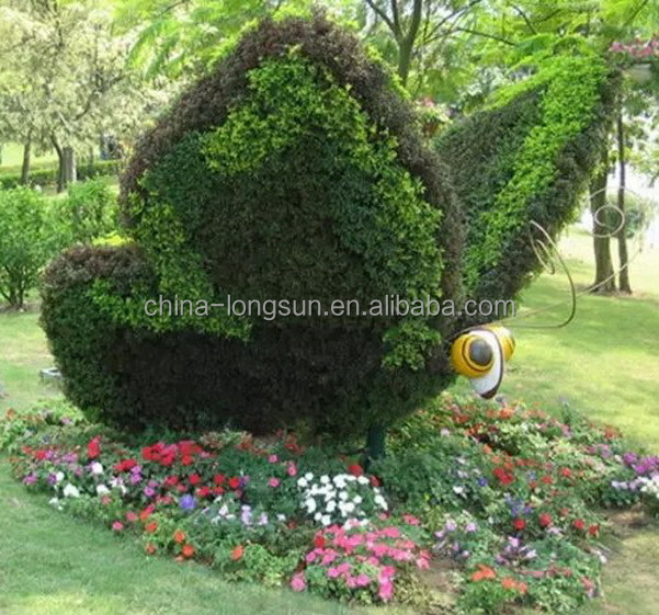 LSWS151202101 landscaping decoration artificial plastic leaves butterfly sculpture for garden decoration