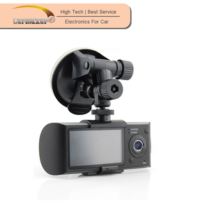 Classic korea design car dvr camera with dual lens dual camera dash cam