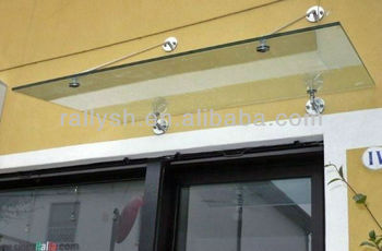Glass Awning Support/steel Glass Awning - Buy Glass Awning ...