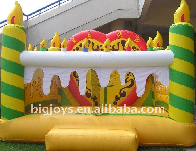 Inflate and play for children,inflatable cake bouncer