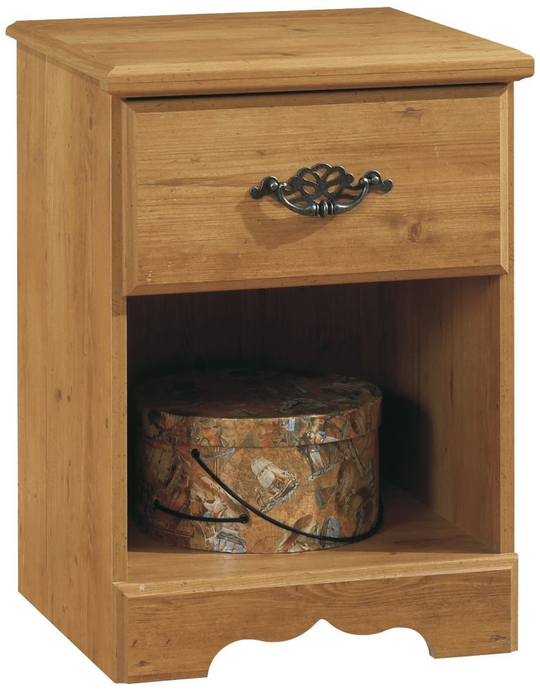 South Shore Prairie Nightstand in Country Pine Finish