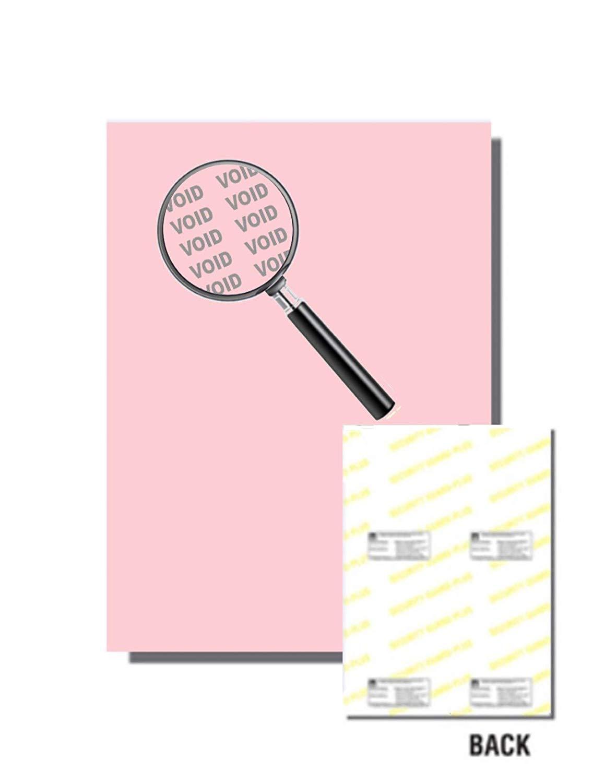 "Laser Print Security Paper (SGP-24-65), Cover Red 65-lb, 8.5"" x 11"", Four Packs (250 Sets Per Pack) - 1000 Sheets"