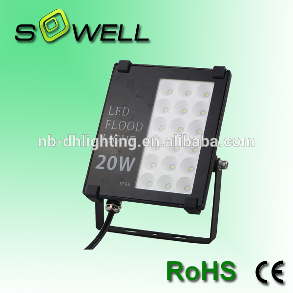 Plastic 20w Aluminum outdoor IP66 SMD LED flood light