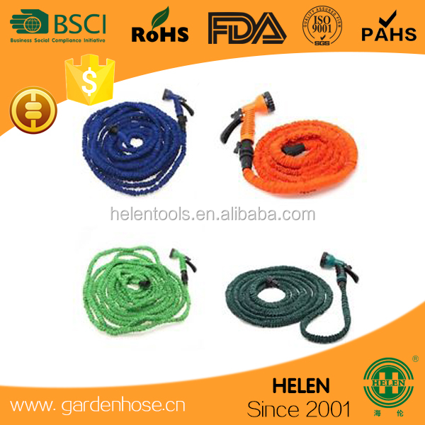 pocket hose W/Brass connector expanding expandable garden hose W/7 Function for America expand up to 3 times of its hose