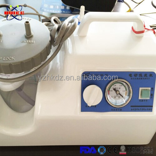 Sputum use of suction machine with glass collection bottle