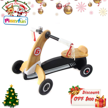 Christmas promotion 2-in-1 tricycle kids wooden balance bike for 2 years old AT2323