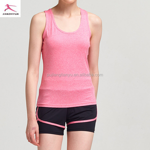 Wholesale 2017 sports fitnesswear ladies long vest tops women casual look breathable yoga tank tops / running vest