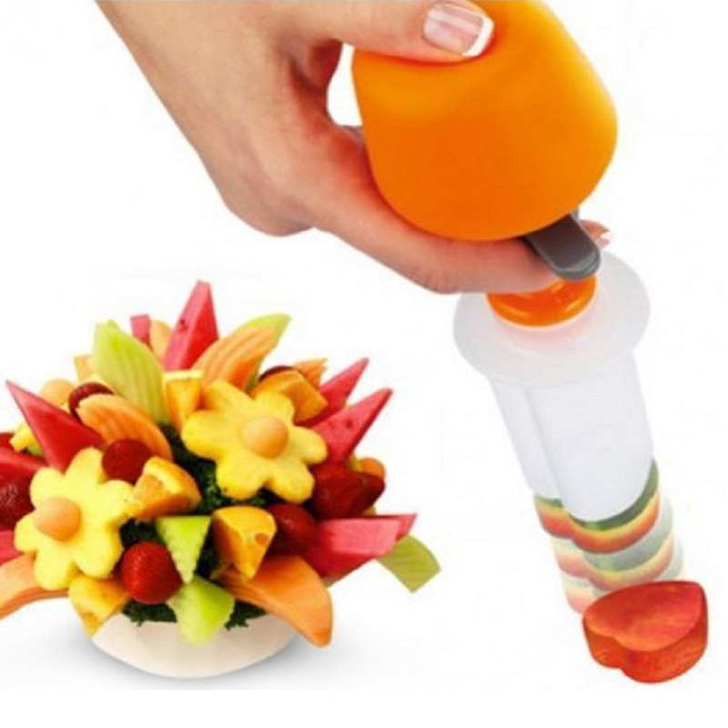 WHISM DIY Plastic Canape Cutter Fruit Shaper Mallen Maker Groente Eten Salade Carving Desert Cake Tool voor Party Festival
