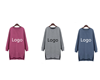 Wholesales plus size hoodies long sleeve custom women hoodie dress