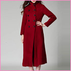 lady elegant long coat up to the ankles good quality women long trench coat