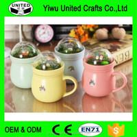 Ceramic Coffee Milk Tea Beverage Cup Mug Collection Set of 4 Pcs Gift