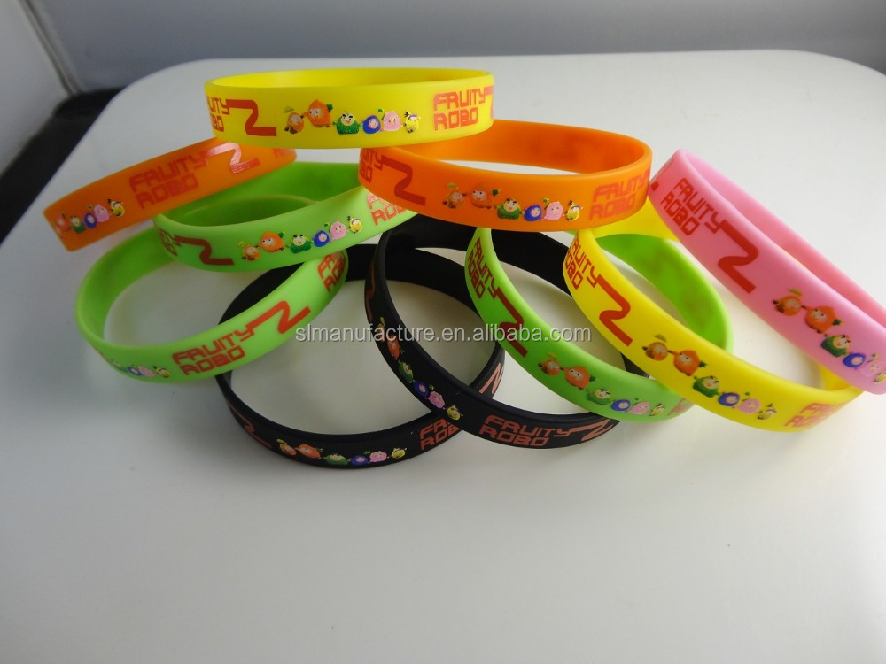 2016 new products arts and crafts rubber gift silicone bracelet for promotional gift