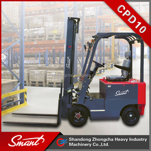4 wheels electric pallet forklift battery lifting truck for warehouse