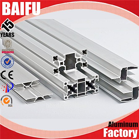 Baifu 3030 3060 30X30 T Slotted T-Slotted Aluminum Profile For Rail And CNC,30X60 V Slotted V-Slotted Aluminum