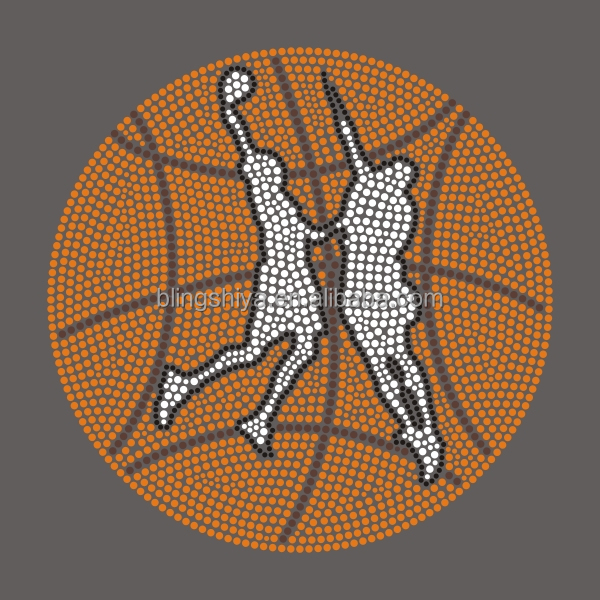 Basketball Contest Hotfix Rhinestone Transfers Motif For Jersey