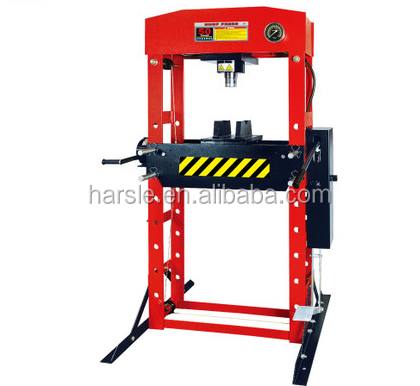 50 Ton Air/Manual Hydraulic Shop Press with Removable Ram