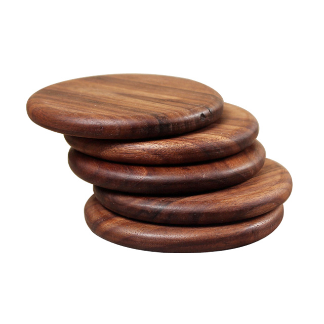 Natural Walnut Wood Heat Insulation Placemats