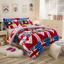 best selling product home sense bedding hello kitty flannel fabric quilt single bed comforter for children beds