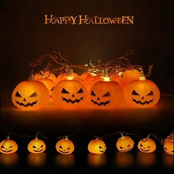 outdoor halloween party led string light ghost pumpkin decoration
